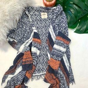 Hollister Multi Colored Blanket Cardigan